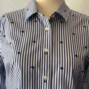 Banana Republic Riley Striped Long Sleeve Shirt
